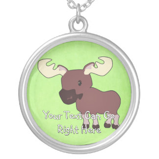Cute Woodland Moose Necklace