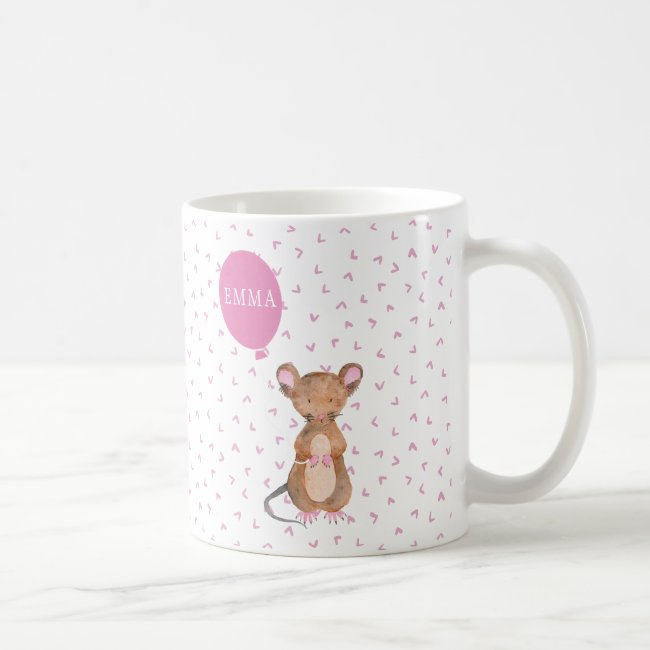 Cute Woodland Mouse Personalized Mug