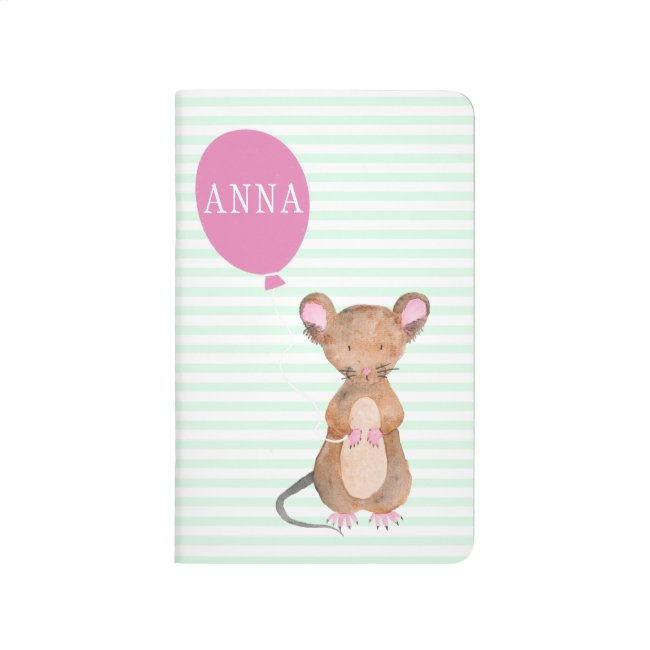 Cute Woodland Mouse Personalized Pocket Journal