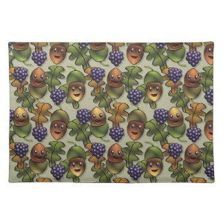 Cute woodland oak creature pattern cloth placemat