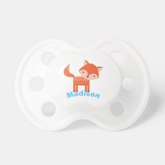 Cute Woodland Red Fox Personalized Baby Pacifier