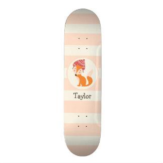 Cute Woodland Winter Fox Skateboard