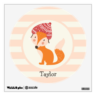 Cute Woodland Winter Fox Wall Graphic