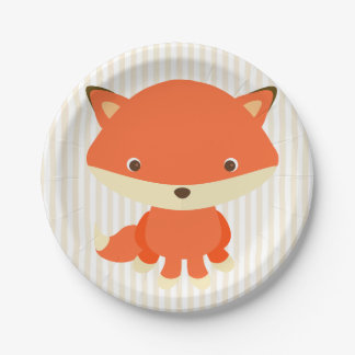 Cute Woodlands Creature Fox Party Cake Plate