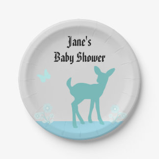 Cute Woods Themed Baby Shower Plate 7 Inch Paper Plate
