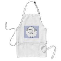 Cute Wooly Lamb Face Adult Apron