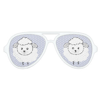 Cute Wooly Lamb Face Aviator Sunglasses