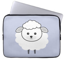 Cute Wooly Lamb Face Computer Sleeve