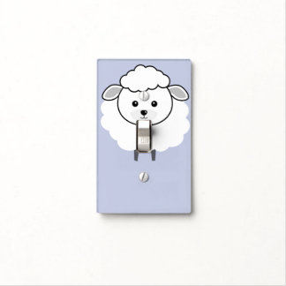 Cute Wooly Lamb Face Light Switch Cover