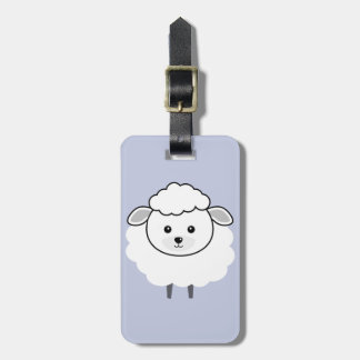 Cute Wooly Lamb Face Luggage Tag