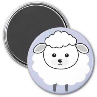 Cute Wooly Lamb Face Magnet