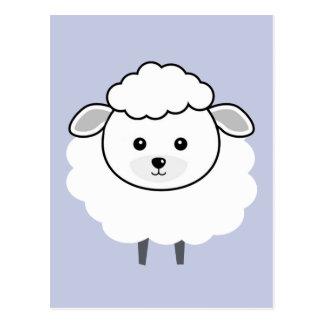 Cute Wooly Lamb Face Post Card
