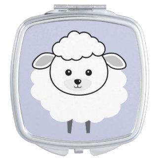 Cute Wooly Lamb Face Vanity Mirror