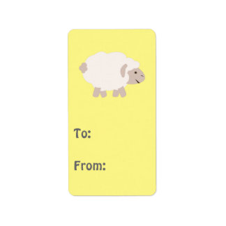 Cute Wooly lamb Label