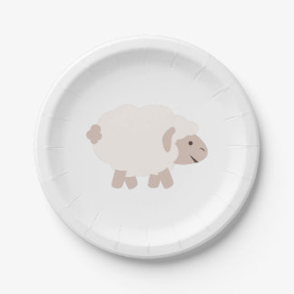 Cute Wooly lamb 7 Inch Paper Plate