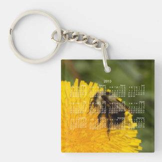 Cute Worker Bee; 2013 Calendar Keychain