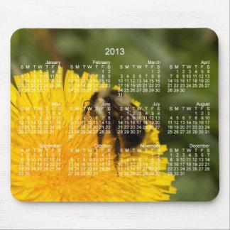 Cute Worker Bee 2013 Calendar Mouse Pads
