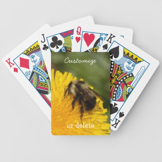 Cute Worker Bee; Customizable Bicycle Playing Cards