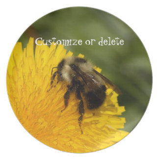 Cute Worker Bee; Customizable Dinner Plate