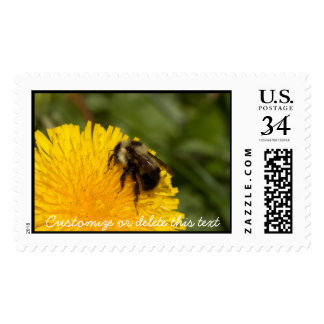Cute Worker Bee; Customizable Postage Stamp