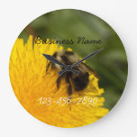 Cute Worker Bee; Promotional Round Wall Clocks