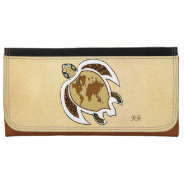 Cute World Map Turtle On A Wallet at Zazzle