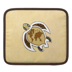 Cute World Map Turtle On Ipad Sleeve at Zazzle