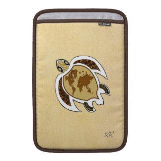 """Cute World Map Turtle On Macbook Air 11"""" Sleeve Sleeve For MacBook Air"""