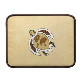 """Cute World Map Turtle On Macbook Air 13"""" Sleeve MacBook Sleeves"""