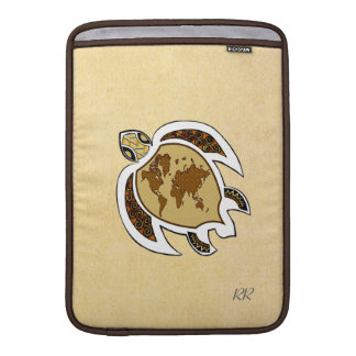 """Cute World Map Turtle On Macbook Air 13"""" Sleeve Sleeve For MacBook Air"""