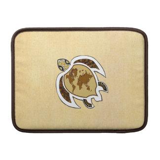 """Cute World Map Turtle On Macbook Air 13"""" Sleeve Sleeves For MacBook Air"""