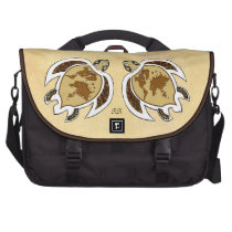 Cute World Map Turtle On Rickshaw Commuter Bag at Zazzle