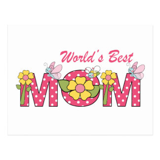 CUTE World's Best Mom! Postcard