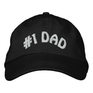 Cute Worlds Greatest Number One #1 Dad Embroidered Baseball Cap