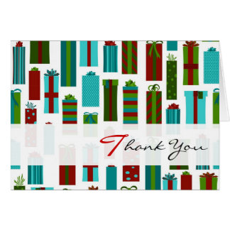 Cute Wrapped Presents Christmas Thank You Card