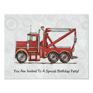 Cute Wrecker Truck Card