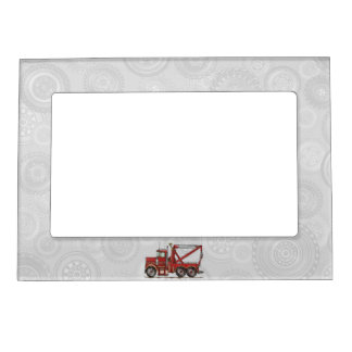 Cute Wrecker Truck Magnetic Picture Frames