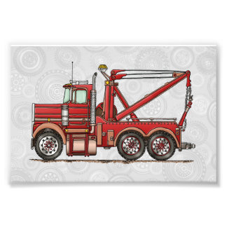Cute Wrecker Truck Photo Print