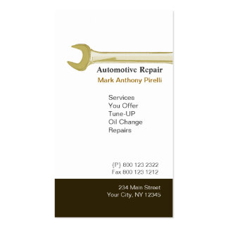 Cute Wrench Handyman Construction Mechanic Double-Sided Standard Business Cards (Pack Of 100)