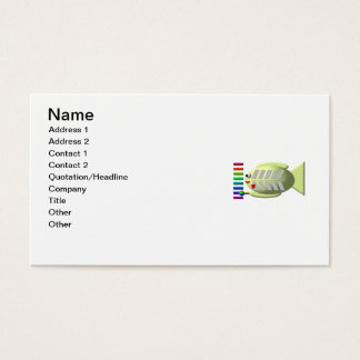 Cute X-ray fish playing the xylophone Business Card