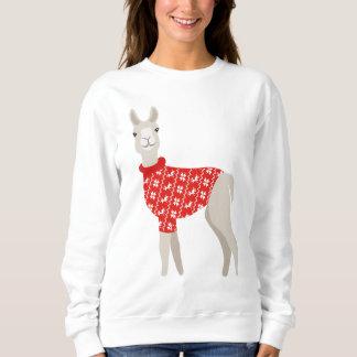 Cute Xmas Christmas Llama Sweater Jumper