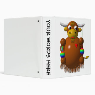 Cute yak with yo-yos binder