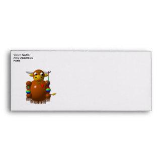 Cute yak with yo-yos envelopes
