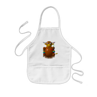Cute yak with yo-yos kids' apron