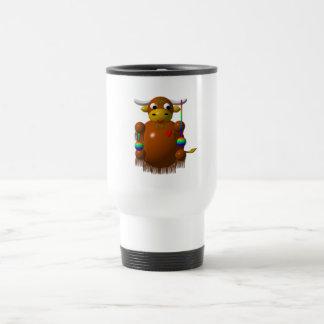 Cute yak with yo-yos 15 oz stainless steel travel mug