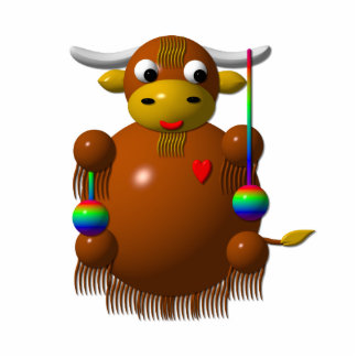 Cute yak with yo-yos statuette