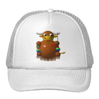 Cute yak with yo-yos trucker hat