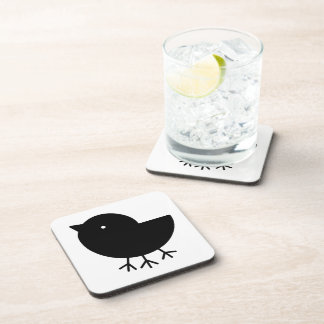 Cute Yatagarasu(black) Beverage Coaster