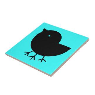 Cute Yatagarasu (black) Tile