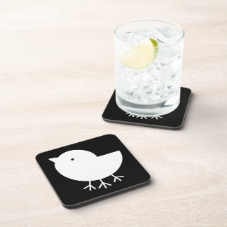 Cute Yatagarasu(white) Drink Coaster